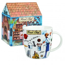 Taza de porcelana chef