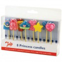 Pack 8 velas princesa