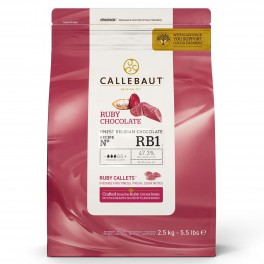 Callets Chocolate Ruby 2,5 Kg Callebaut